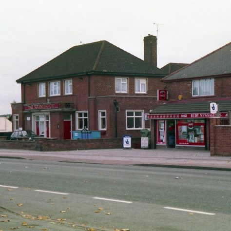 The 'Sqinting Cat' public house, and one of the village  Newsagents | Malcolm Marples