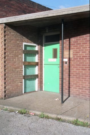 Staff entrance to Medical Centre (Boarded-up) | Malcolm Marples