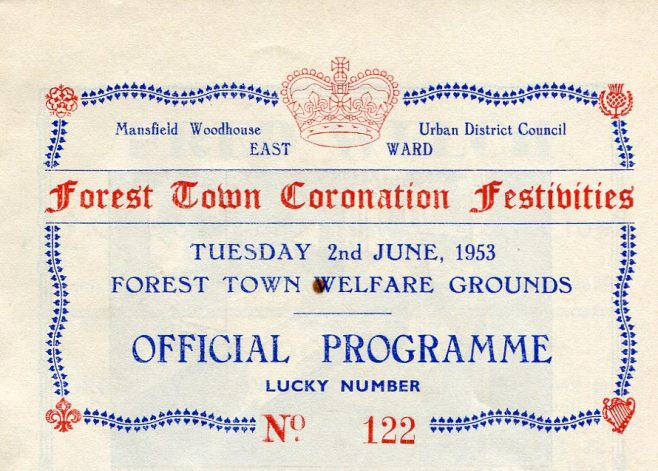 Forest Town Coronation Celebrations