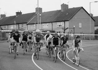 July 2004 Geoff Cooke, Olympian Cyclist is third from the right | P Marples Collection