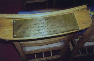 Memorial Chair | J & S Baily