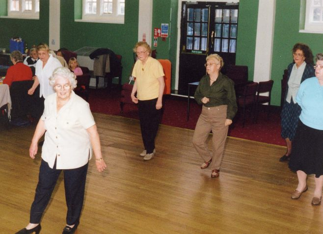 Line Dancing at the Monday or Thursday Club | P Marples