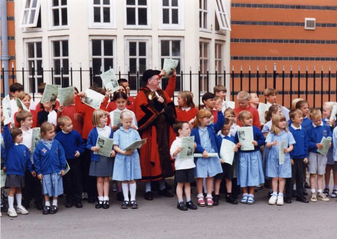 Launching the Forest Town Crier Community Newspaper 17 June 1999 | P Marples
