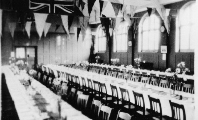 The Hall prepared for a special event | P Marples Collection