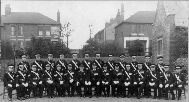 St John Ambulance Brigade, at the side of the Drill Hall | P Marples Collection
