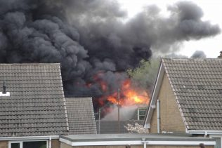 Fire clearly visable from Sherwood Hall Road | Malcolm Marples