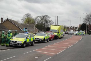Ambulance Control & personnel, Sherwood Hall Road now closed | Malcolm Marples