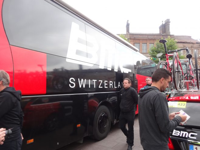 Team bus from Switzerland | M & P Marples
