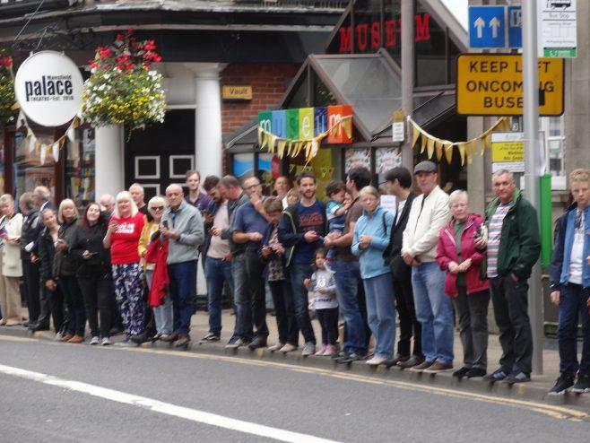 Spectators on Leeming Street   M & P Marples