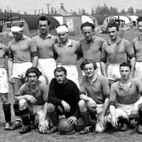 One of the Hostels Football Teams (Miners Welfare & Avenues in the background) | E Dunajewski