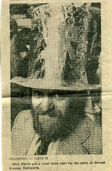 My dad, clipping from the Chad, 1977 | Carolyn Harris - Copyright
