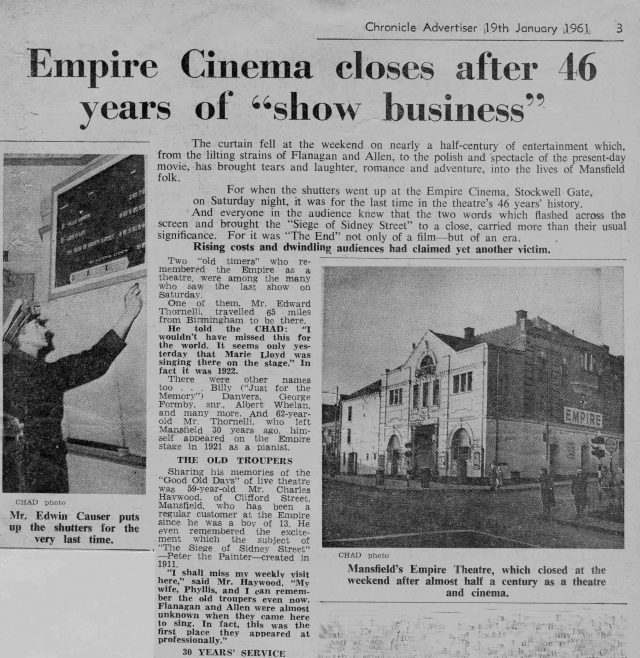 No 13 News Cutting | Chronicle Advertiser 19th January 1961