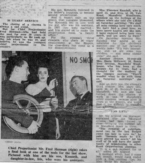 No 14 News Cutting | Chronicle Advertiser 19th January 1961