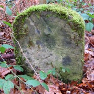 A Warsop Boundary Stone on the parish boundary near Post F