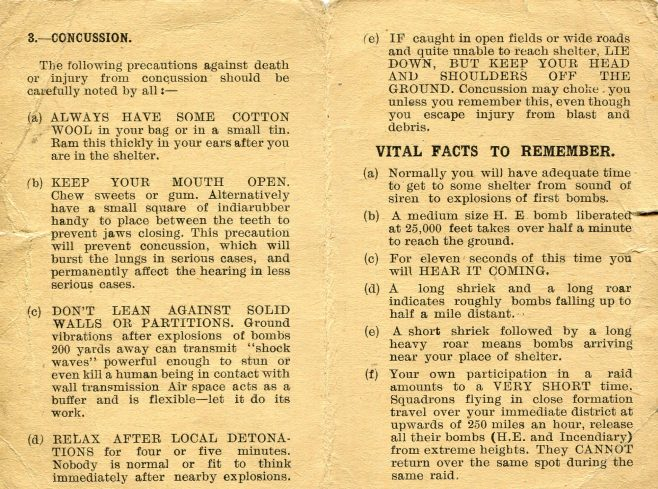 Air raid information