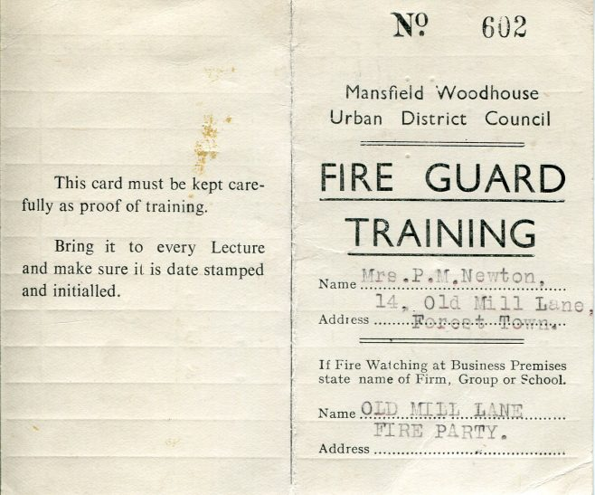 Training card