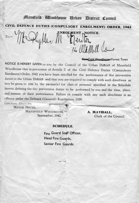 Compulsory enrolement letter