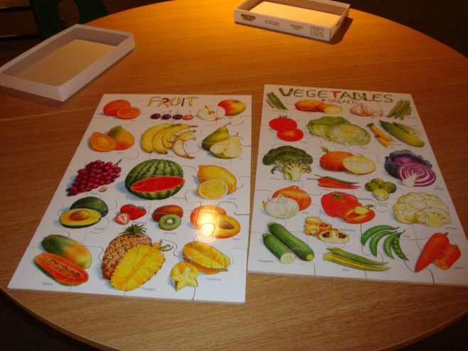 Learn about food by doing jigsaws. | P Marples