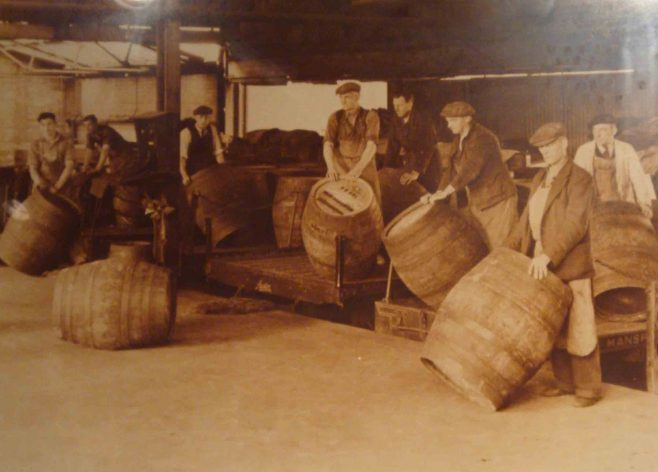 Roll out the barrel, Mansfield Brewery.
