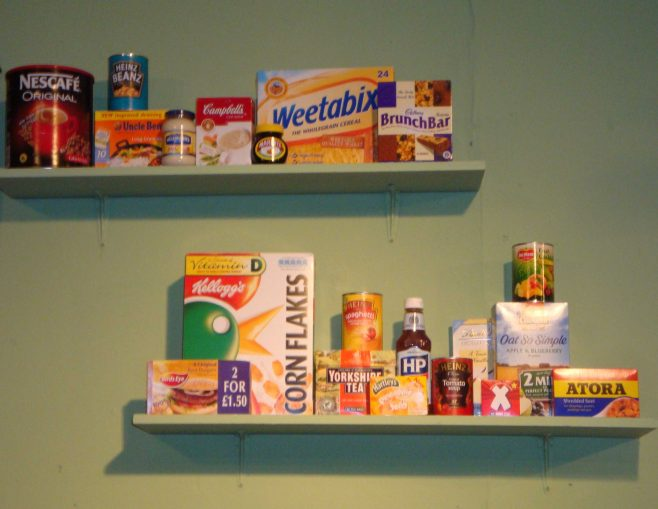 The pantry shelves. | P Marples