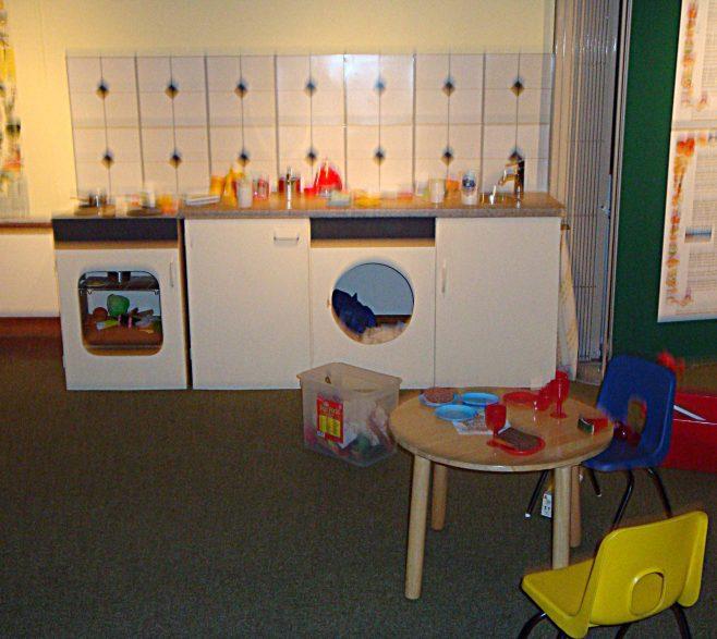 A kitchen for children to explore. | p Marples
