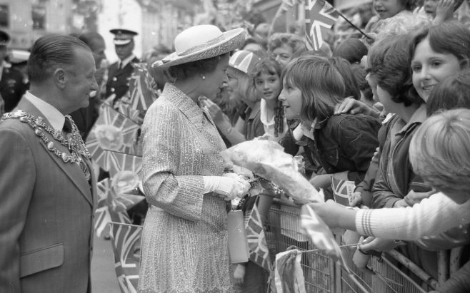 Royal Visit to Mansfield 1977 | CHAD G2440J 32