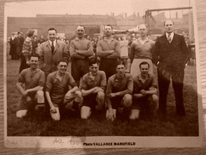 1950 Football Team Photo - Metal Box Company?