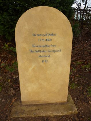 Transfer of Remains from Old Meeting House                                         Mansfield