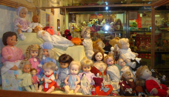 Well loved dolls of every size and age, some in their original clothes others in home made ones. | P Marples