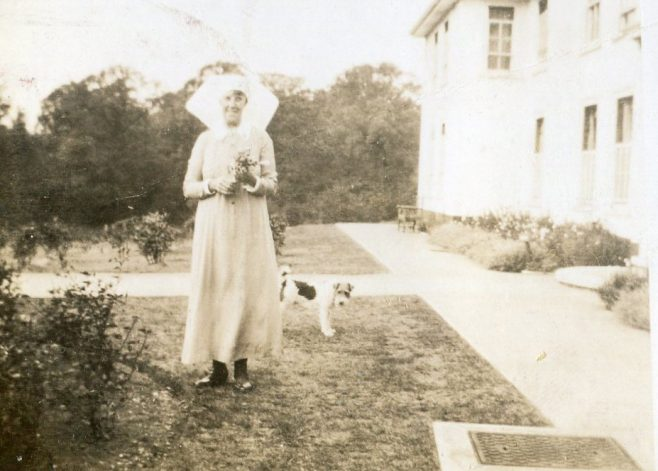 Matron and her dog | Private Collection