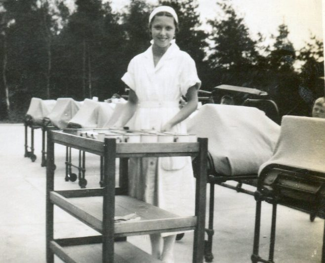 Nurse Bakewell - note the tin mugs | Private Collection