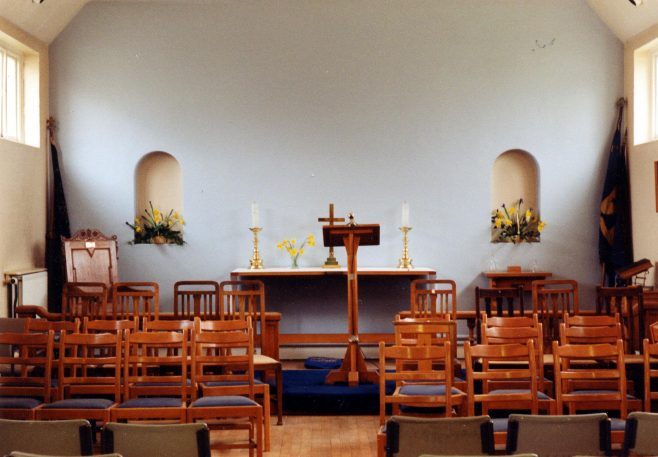 Hospital Chapel showing Guide and Scout flags 1995 | P Marples
