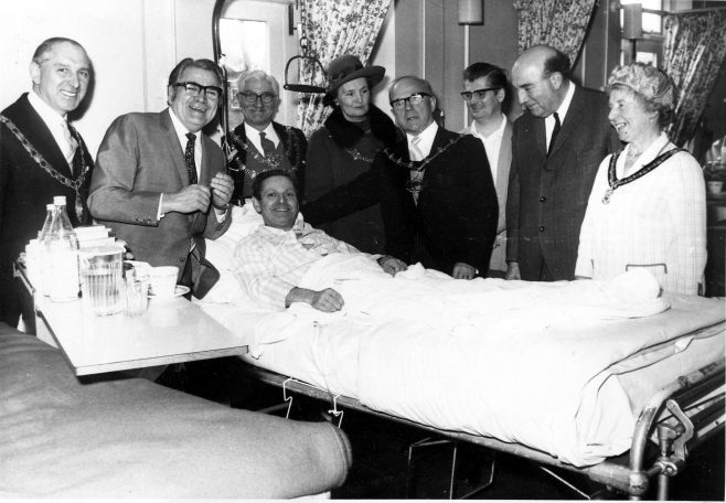 Well this patient is not short of special visitors 1970 | Private Collection 1970