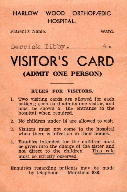 Visiting Harlow Wood Hospital | Lynn Tibby