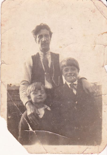 George William Cox with his two stepchildren Syd and Reg Booth. It would be Syd, many years later who would provide me with the information I used to write my original piece about the family and their lives in Blackgate Yard. | Glenn Sutcliffe