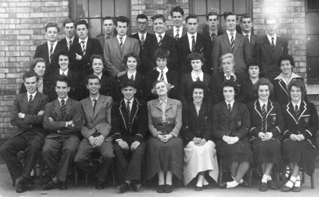 1 -Front row - left of teacher Steve Bainbridge. Front right end two girls, Jean Robinson, Ann Robinson | Brunts School Photographic Society