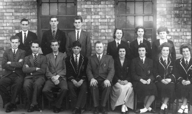 3 - Front row left of teacher, Steve Bainbridge - Front row, end two girls Jean Robinson, Ann Robinson | Brunts School Photographic Society