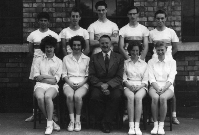 8 - Back row ? - John Wetton - Morris Hicking. Front row ? - Ann Robinson Frank Gibb ? - ? | Brunts School Photographic Society