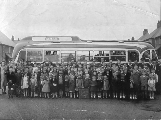 Maltby Road Childrens Outing 1947