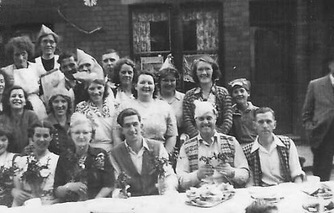 Bradder Street Coronation Party 1953