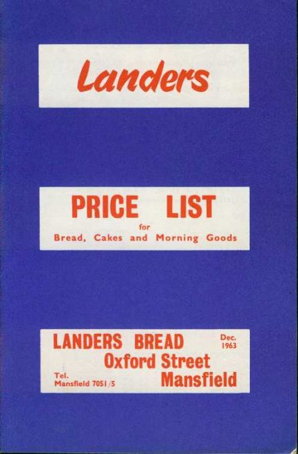 Landers Bread Price List