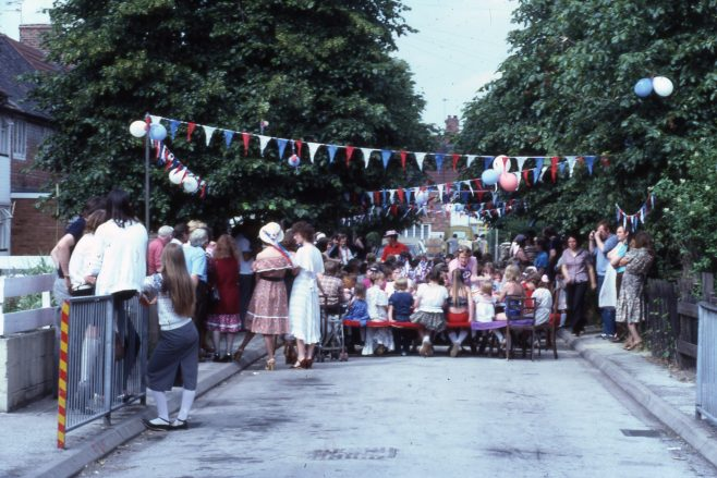 1981 Royal Wedding street party, 2nd ave, Rainworth. | Carolyn Harris - Copyright