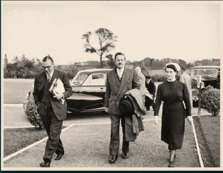 L-R Mr A Ashworth, Rt Hon Marquand and Matron Aldridge. Both Bert Ashworth and Matron Aldridge had wards named after them.