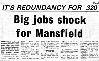 Landers Bakery | Mansfield & Sutton Recorder March 12 1981