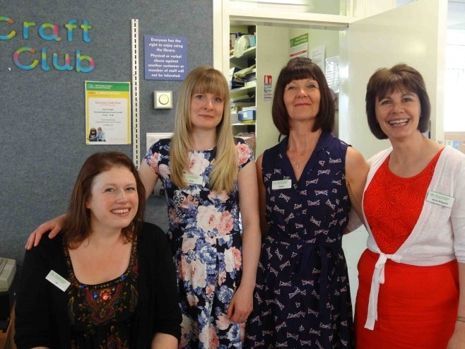 Librarians Jo, Katie, Sharon, Jayne