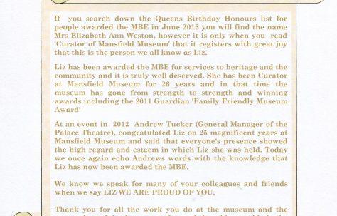 A very special award for Liz