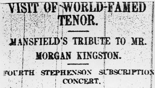 Mansfield Concert 1926 | Unknown Newspaper