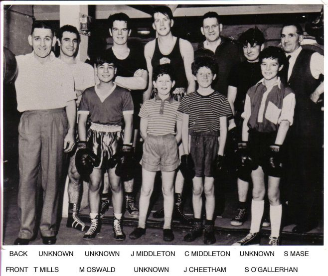 Mansfield Colliery Boxing Club 1962