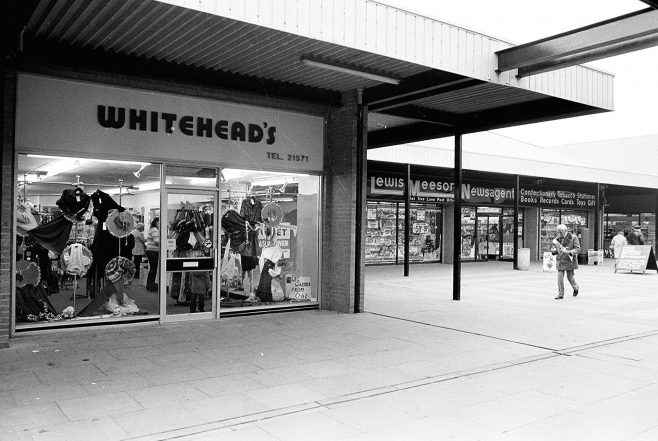 Oak Tree Lane shops 1982 | Mansfield Chad