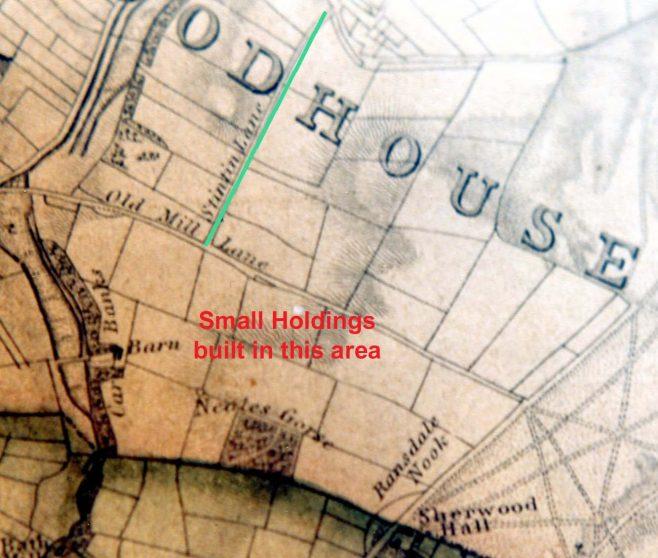 Sandersons Map 1835 - 25 Miles round Mansfield